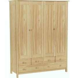Argos Home Scandinavia 4 Door 6 Drawer Wardrobe