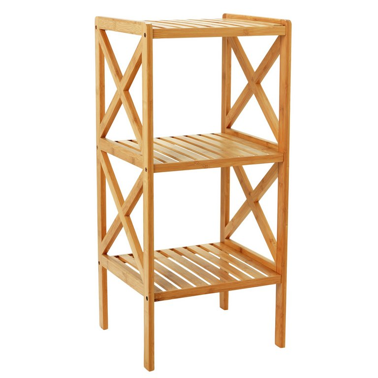 buy collection two tier bathroom shelving unit  bamboo at argos,