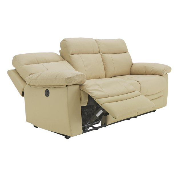 Buy Collection New Paolo 3 Seater Power Recliner Sofa