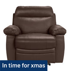 Argos Home New Paolo Power Recliner Chair - Brown