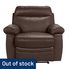 Argos Home Paolo Faux Leather Power Recliner Chair - Brown