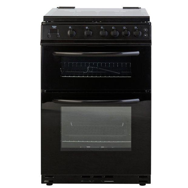 buy bush ag66tb gas cooker black at your. Black Bedroom Furniture Sets. Home Design Ideas
