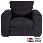 more details on Heart of House Eton Fabric Chair - Black.
