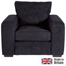 Heart of House Eton Fabric Armchair - Black