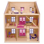 more details on Melissa and Doug Multi Level Wooden Dollhouse.