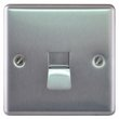 more details on Masterplug Single Master Telephone Socket - Brushed Steel.