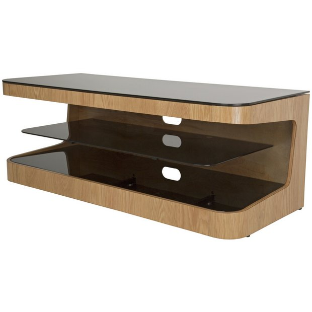 buy avf up to 55 inch tv stand oak at your. Black Bedroom Furniture Sets. Home Design Ideas