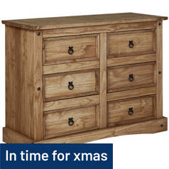 Argos Home Puerto Rico 3 + 3 Drawer Chest