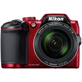 Nikon B500 16MP 40x Zoom Bridge Camera - Red