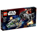 more details on LEGO Star Wars Vadar Tie Advanced Vs A Wing - 75150.