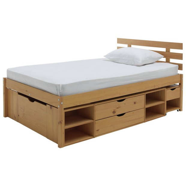 70a8cd62d554 Buy Argos Home Ultimate Storage II Small Double Bed Frame | Bed ...