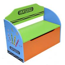 Kiddi Style Crayon Toy Box and Bench - Blue