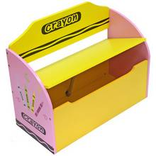 Kiddi Style Crayon Toy Box and Bench - Pink
