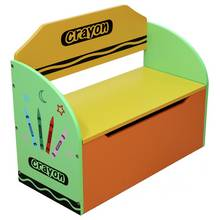 Kiddi Style Crayon Toy Box and Bench - Green