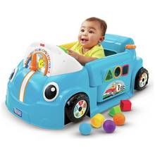 Fisher-Price Laugh & Learn Crawl a Round Car - Blue