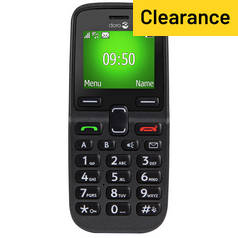 SIM Free Doro 5030 Candy Bar Mobile Phone - Black