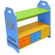 Kiddi Style Crayon Shelves and Storage - Blue