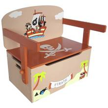 Kiddi Style Pirate Convertible Toy Box Bench