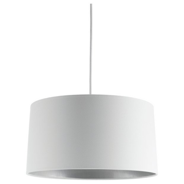 Argos Wall Lamp Shades : Buy Habitat Grande Small Shade - White/Platinum at Argos.co.uk - Your Online Shop for Lamp ...