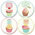 more details on Retro Treats Cupcake 4 Tablemats and 4 Coasters Set.