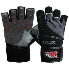 RDX Leather Weight Lifting Gloves with Strap