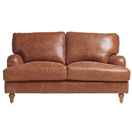 Argos Home Livingston 2 Seater Leather Sofa - Tan