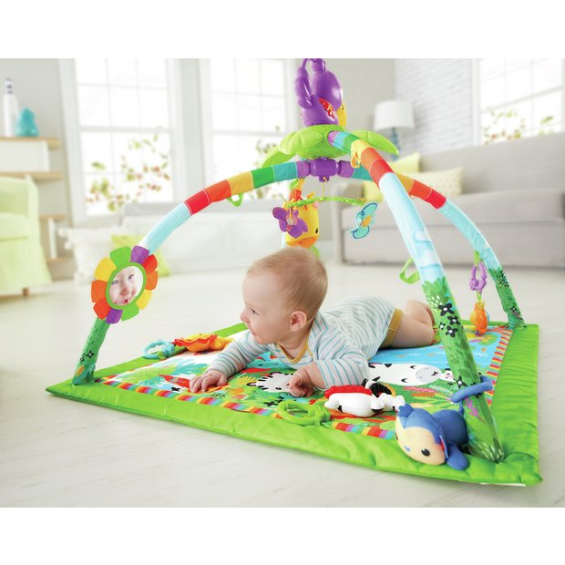 219e5ff334f Buy Fisher-Price Rainforest Music & Lights Deluxe Gym | Playmats and gyms |  Argos