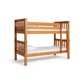 Argos Home Heavy Duty Pine Bunk Bed & 2 Kids Mattresses