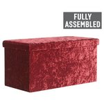 more details on Collection Ashridge Large Velvet Ottoman - Wine.