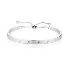 Buckley London Silver Colour Piccadilly Prima Bangle