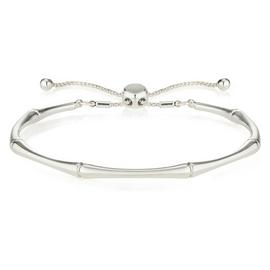 Buckley Bamboo Silver Colour Friendship Bracelet