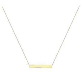 9ct Gold Personalised Bar Pendant