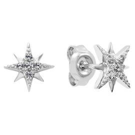 Revere Sterling Silver Cubic Zirconia Celestial Studs