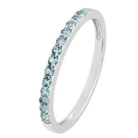 Revere Sterling Silver Blue Cubic Zirconia Stack Ring
