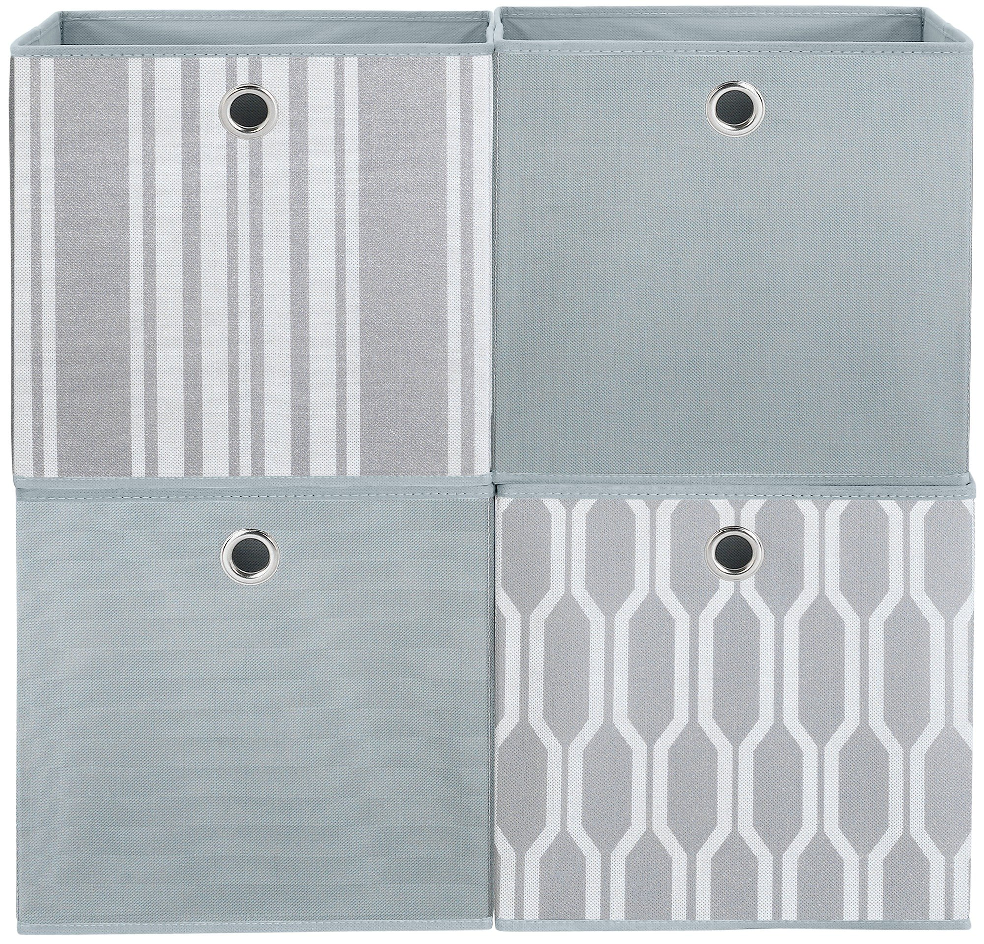Argos Home Set Of 4 Non Woven Boxes   Grey Geo