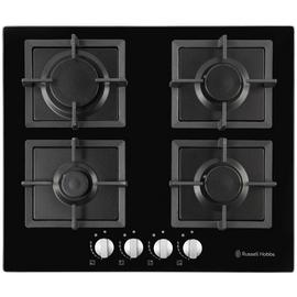 Russell Hobbs RH60GH402B Cast Iron Support Gas Hob - Black
