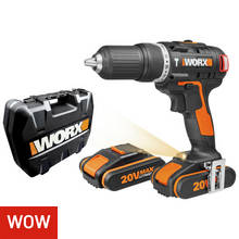 WORX Cordless Brushless Hammer Drill with 2 20V Batteries