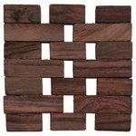 more details on Natural Slatted Wood 4 Tablemats and 4 Coasters Set.