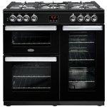 more details on Belling Cookcentre 90DFT Dual Fuel Range Cooker - Black.