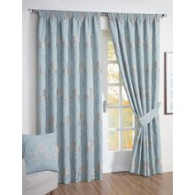 Julian Charles Montrose Lined Curtain - 228x228cm - Duck Egg