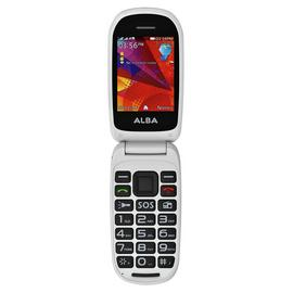 SIM Free Alba Flip Mobile Phone with Dock - Black