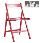 more details on HOME Wooden Folding Chair - Red.