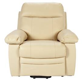 Argos Home Paolo Riser Recline Leather Chair - Ivory