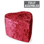 more details on Heart Crushed Velvet Ottoman - Wine.