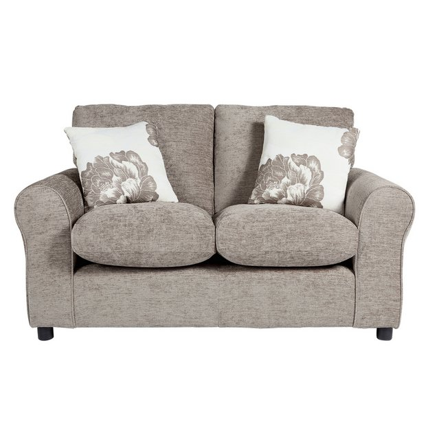 buy home tessa compact 2 seater fabric sofa mink at. Black Bedroom Furniture Sets. Home Design Ideas