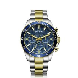 Rotary Men's Two Tone Chronograph Bracelet Watch