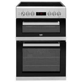 Beko KDC653S 60cm Double Oven Electric Cooker - Silver Best Price, Cheapest Prices