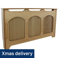 Argos Home Winterfold Large Radiator Cover - Oak Effect