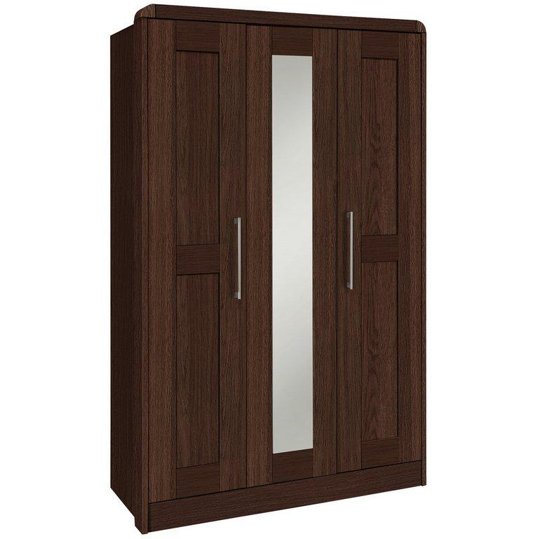Buy Heart Of House Elford 3 Dr Mirror Wardrobe Dark Oak