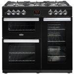 more details on Belling Cookcentre 90G Gas Range Cooker - Black.
